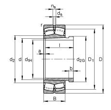 FAG Rolamento autocompensador de rolos - 23138-E1-XL-K-TVPB + AH3138G